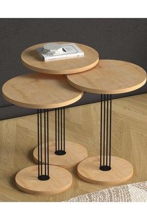 Деревянные журнальные столики, диванные круглые журнальные столики, овальные тройные журнальные столики, Темные деревянные журнальные сто...