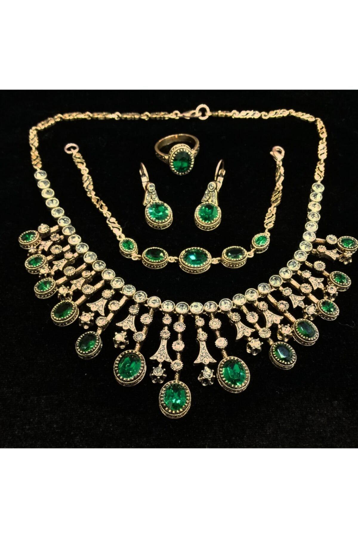 المرأة مجوهرات الأزياء الزمرد ستوني الماس شنت المختنق أقراط خاتم معصمه مجموعات الحبيب هدية