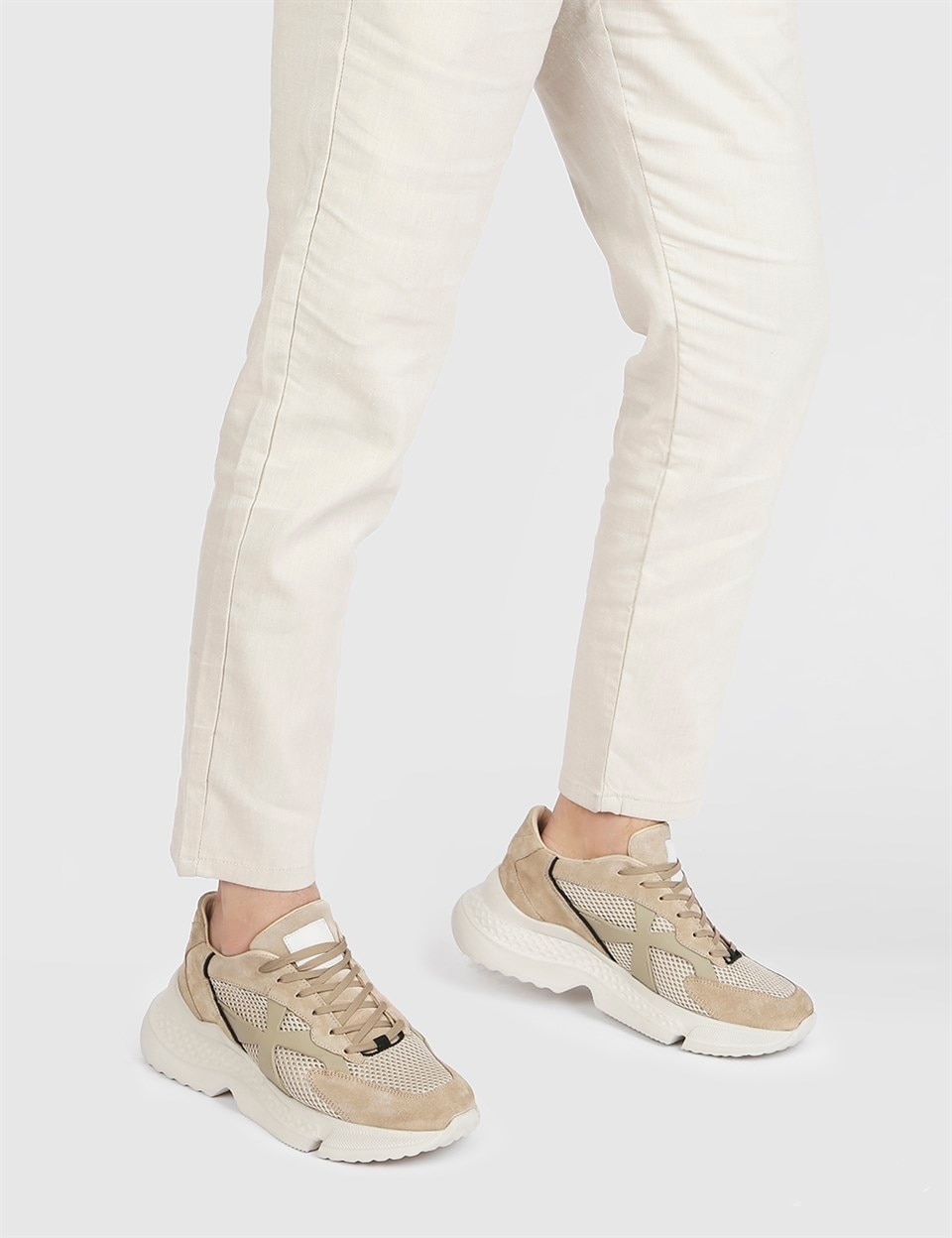 ILVi-جلد طبيعي اليدوية Artek الرمال Nubuck حذاء رياضة للرجال حذاء رجالي 2021 الربيع/الصيف