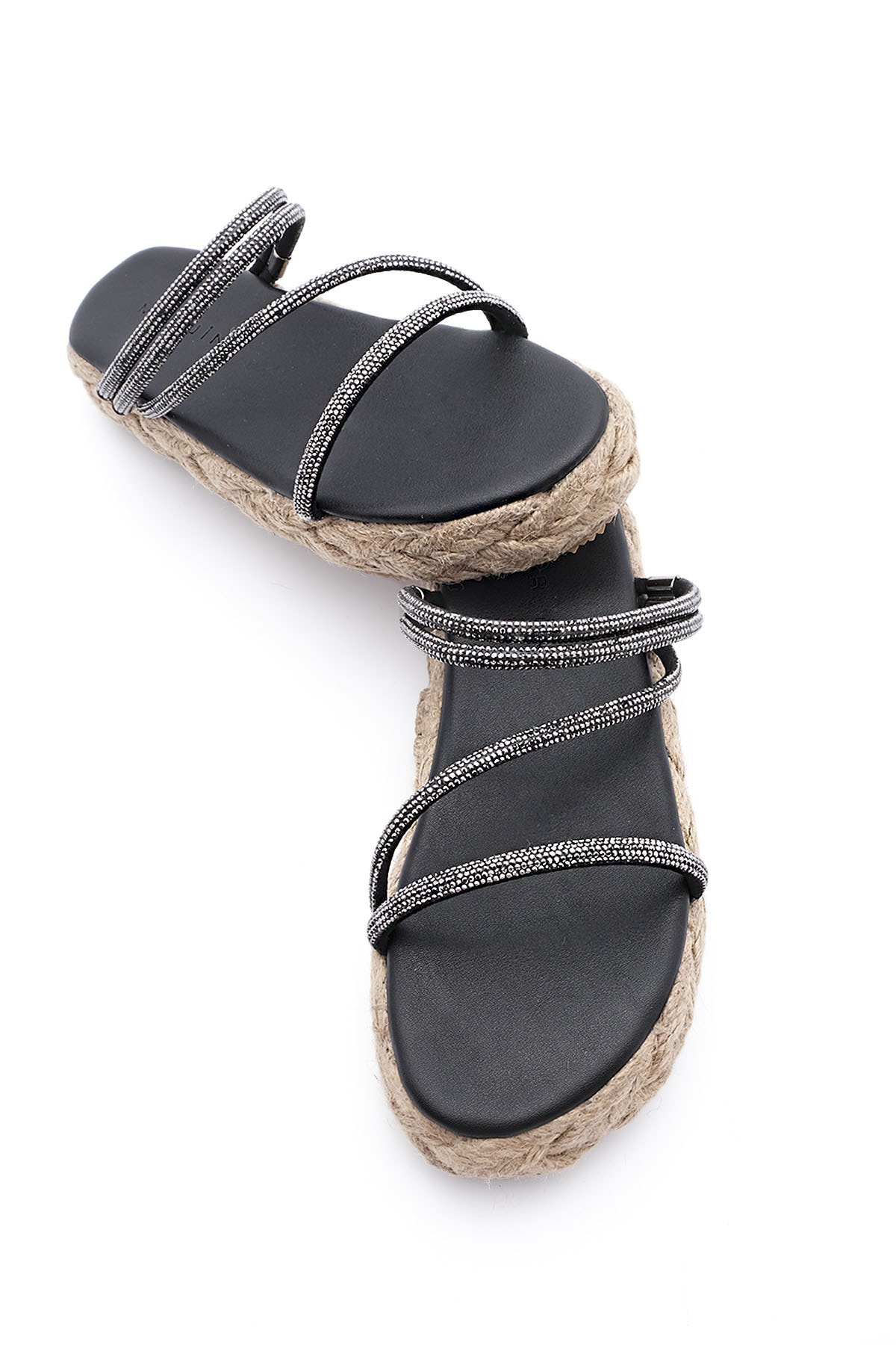 النساء الصنادل s الخوص الفيلة الكعوب يجب الأسود الصيف داخلي في الهواء الطلق الوجه يتخبط الشاطئ حذاء الإناث النعال منصة عادية