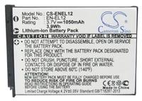 cameron sino 1050ma battery for nikon coolpix s1000pj projectorcoolpix s1100pjcoolpix s1200pjcoolpix s31 en el12