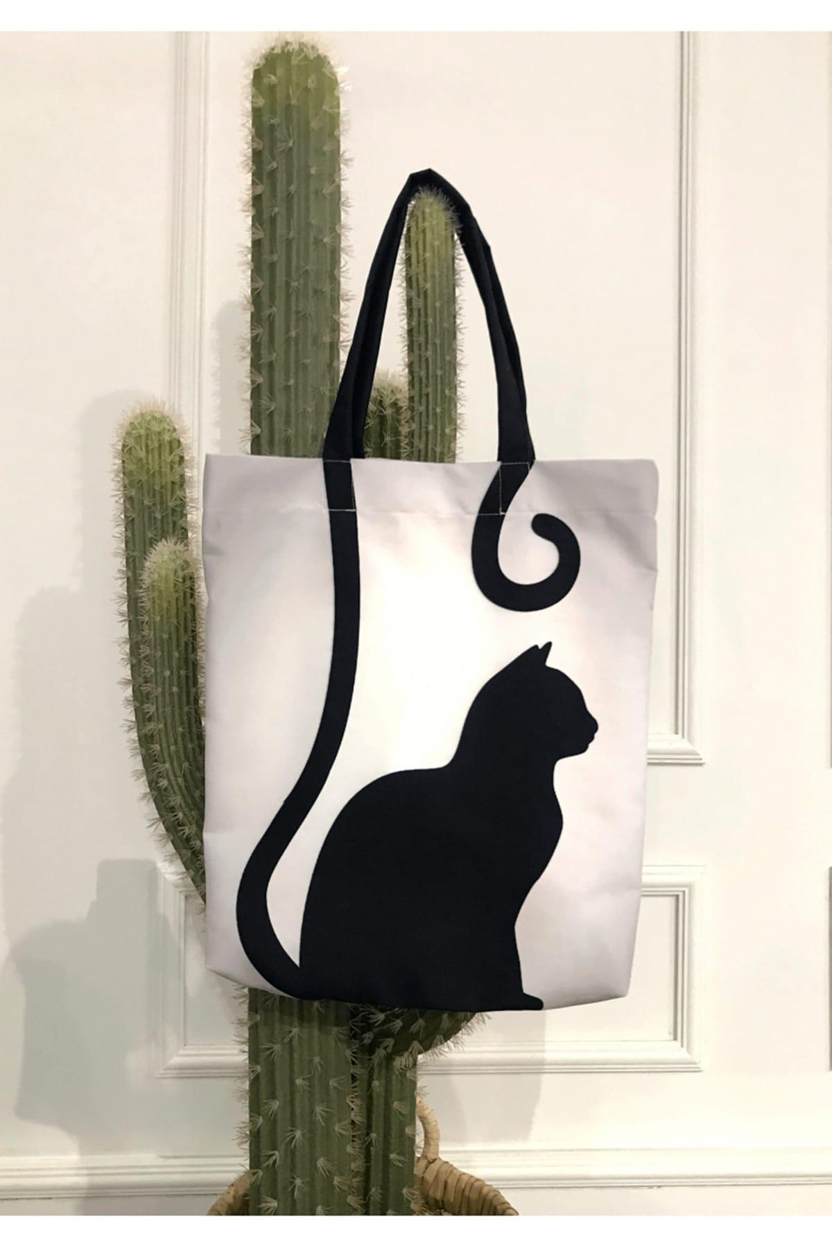 Пляжная сумка | Рисунок кота | Летняя мода 2021 | Модная и шикарная | Использование полезно | Ежедневное использование и подарок | Женская мода | ...