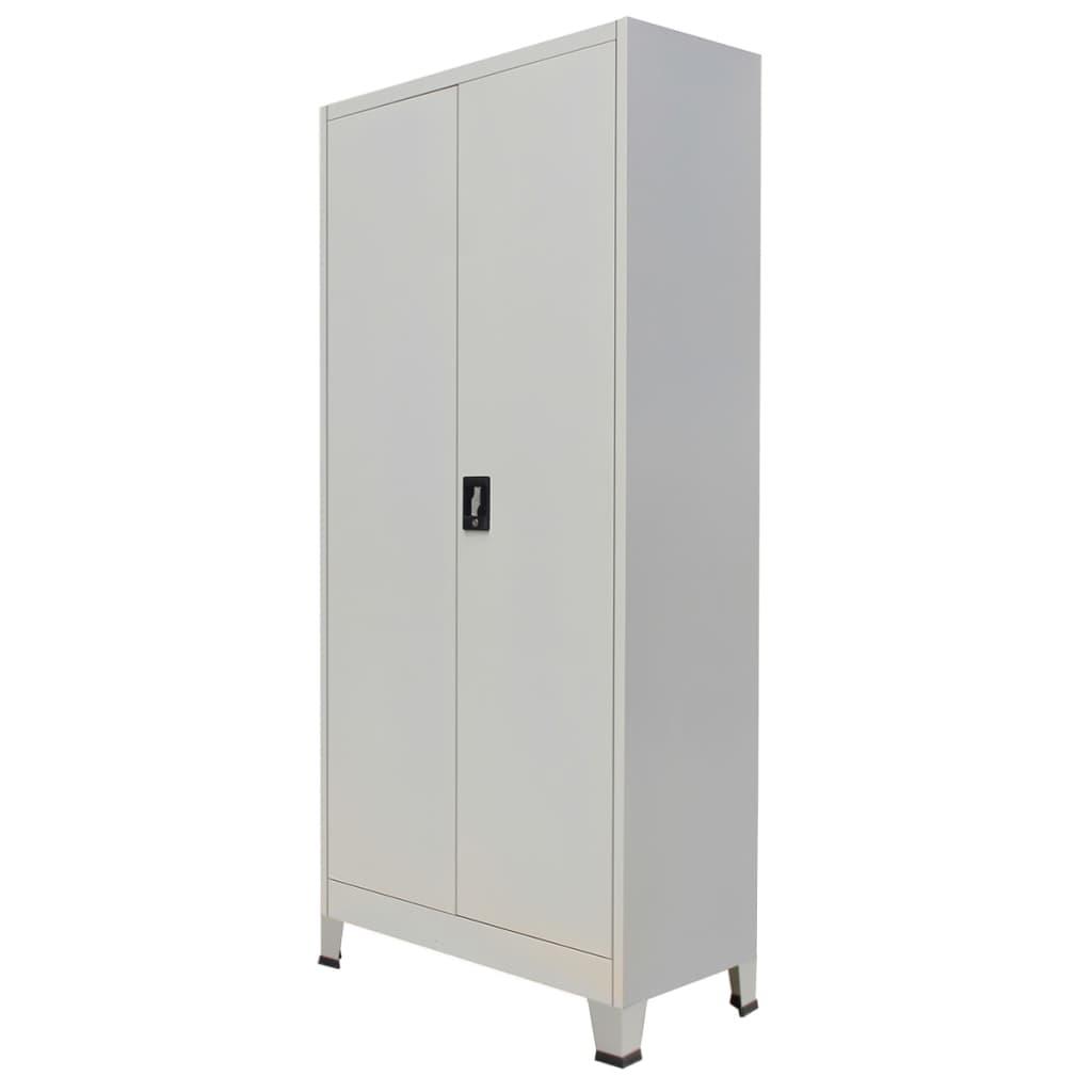 Высокие настенные металлические офисные шкафы для хранения файлов для дома и офиса с 2 дверцами, сталь, 35,4x15,7x70,9 дюйма, серый шкафы витрины стеклянные для офиса