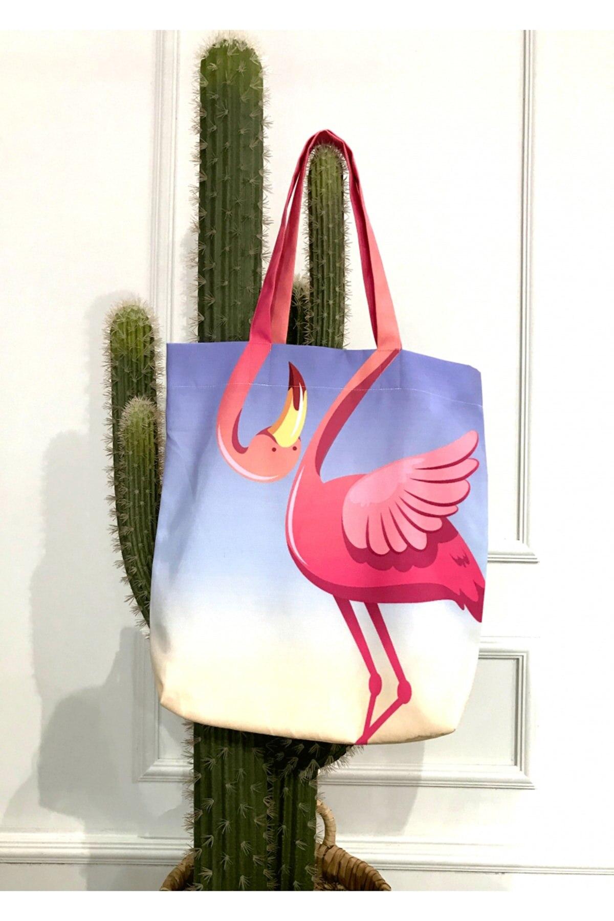 Пляжная сумка | С рисунком Фламинго | Летняя мода 2021 | Модная и шикарная | Многофункциональная | Повседневное использование и подарок | Женска...