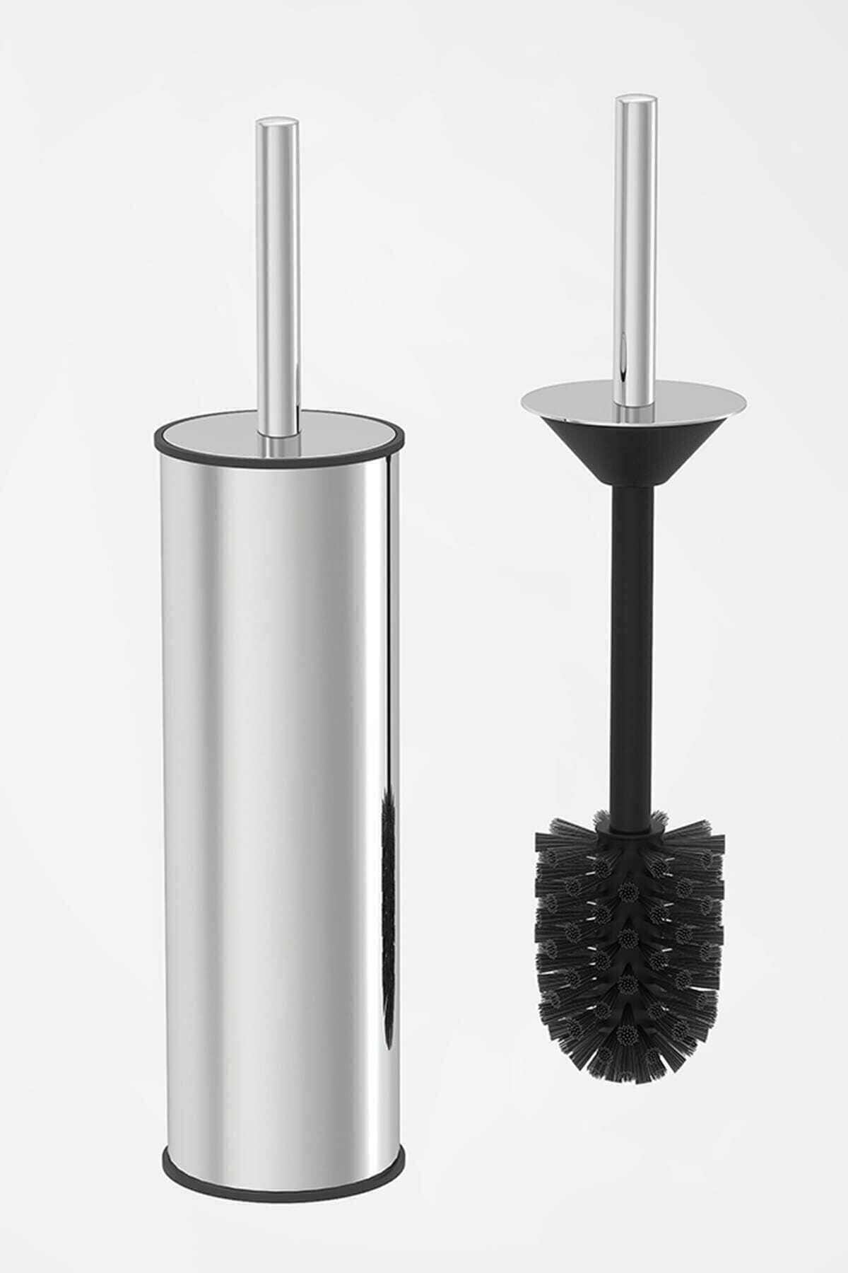 المرحاض فرشاة حامل الفولاذ المقاوم للصدأ تنظيف أداة دائم العمودي الحمام المرحاض فرشاة الكروم Wc فرشاة