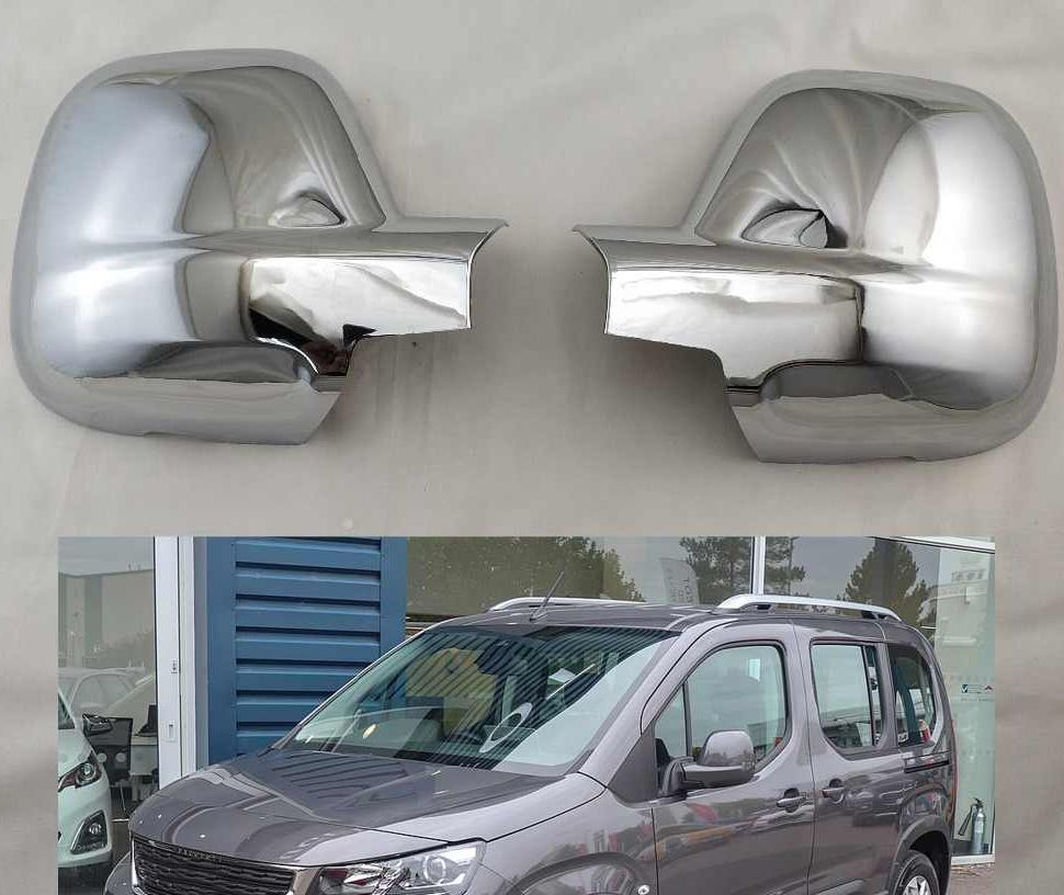 For Peugeot Rifter Mirror Cover 2 Parts Abs Chrome 2019-Automotive Decorative Accessories Rearview Modified Tunnıng Design