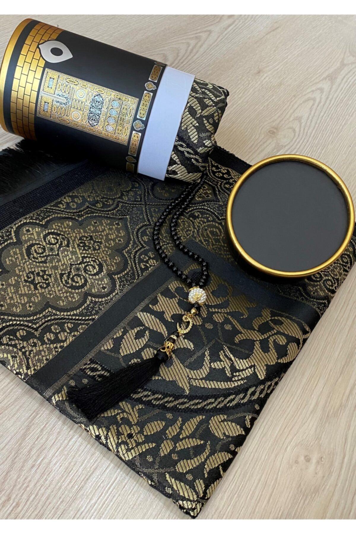 2021 model hajj gift prayer rug Gift Dowries Boxed Kaba Pattern Prayer Rosary Set prayer rug 12 pcs