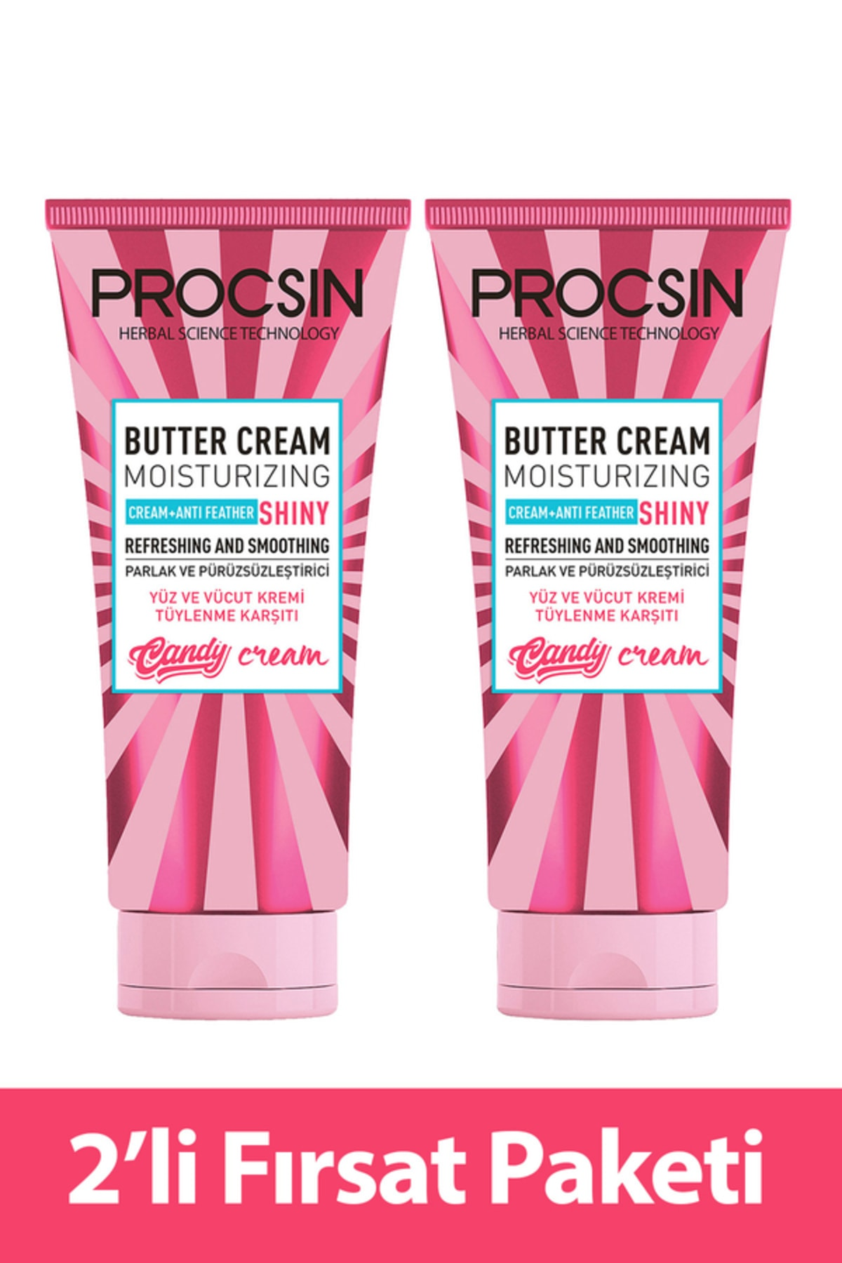 Фото - Procsin 2 pcs 175ml Butter Cream Moisturizing Anti Feather Shiny Fresh and Smoothing Effect Body Cream too faced butter cream