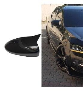 Carsdesıgg For Skoda Octavia 2013-2019 Batman Bat Mirror Cover Modified Accessory Designed Styling Tunnıng Auto Parts