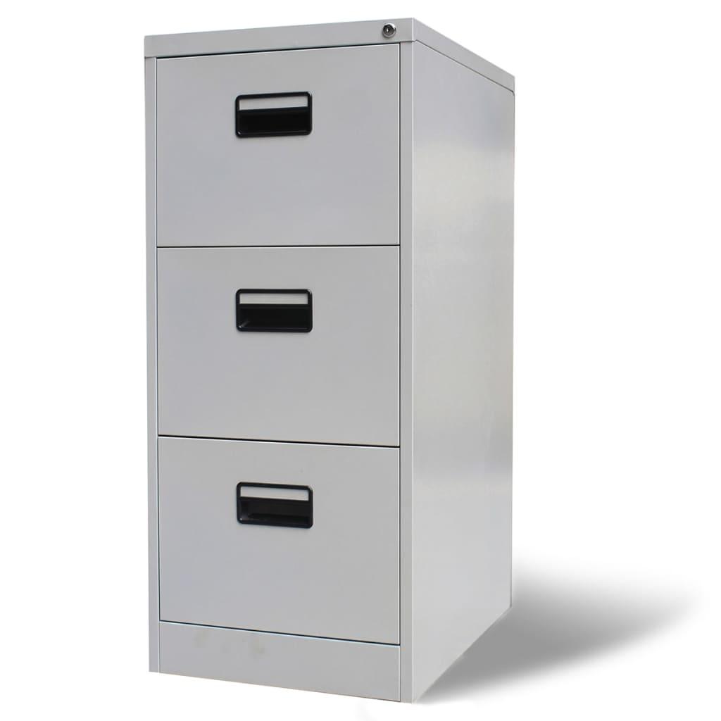 Металлические офисные шкафы для хранения файлов, для дома и офиса, с 3 ящиками, серые, 40,4 дюйма, стальные шкафы витрины стеклянные для офиса