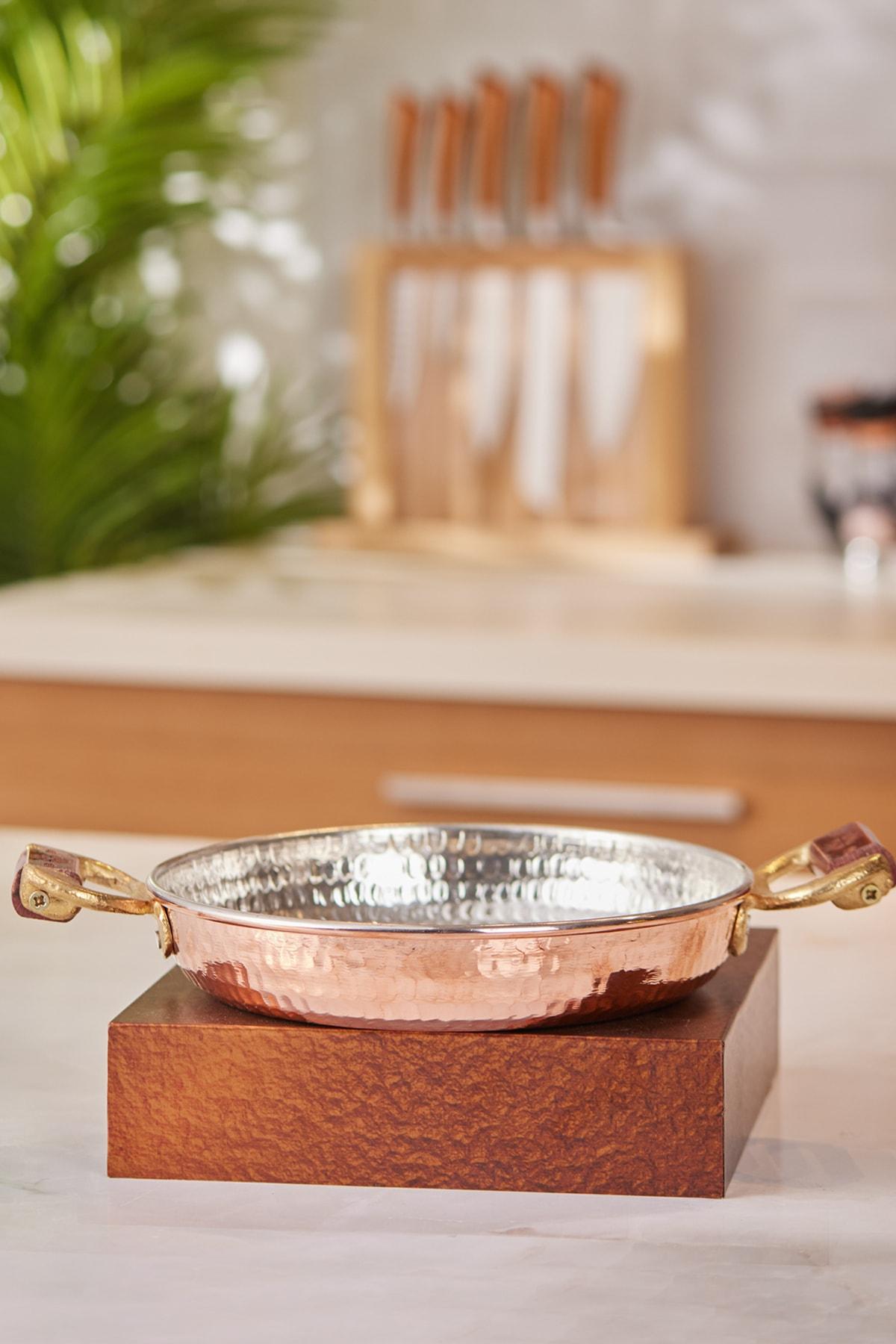 Sahan عموم النحاس مقلاة التقليدية الإنجليزية البيض عجة القلي الطبخ طبخ صنع تركيا
