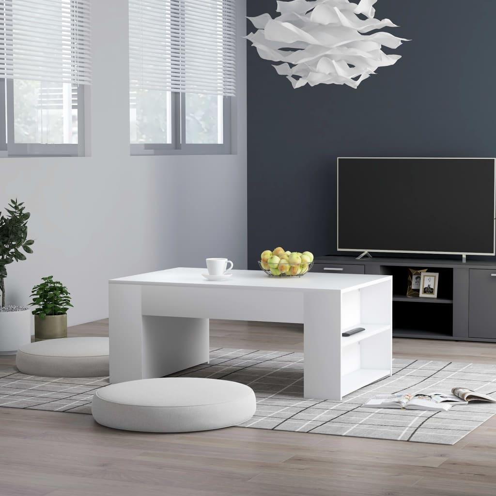 Кофейный столик, журнальные столики для оформления интерьера, белый, 39,4x23,6x16,5 дюйма, ДСП