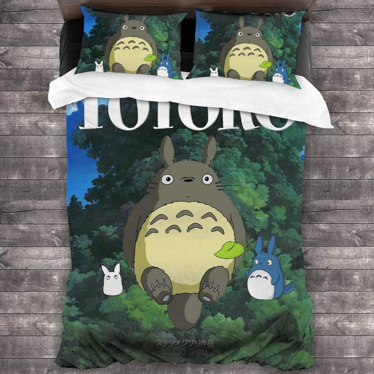 3 قطعة طباعة الفراش جارتي توتورو حاف مجموعة غطاء لينة (لا المعزي) ، طقم سرير (1 حاف الغطاء 2 وسادة شمس)