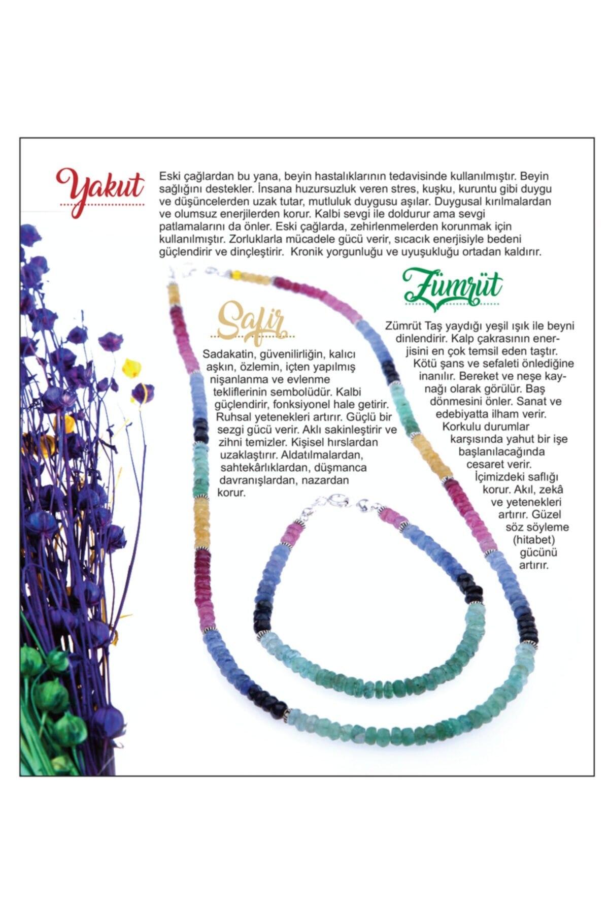 مجوهرات الأزياء النسائية قلادة الحجر الطبيعي والمجوهرات سوار-الزمرد الياقوت روبي