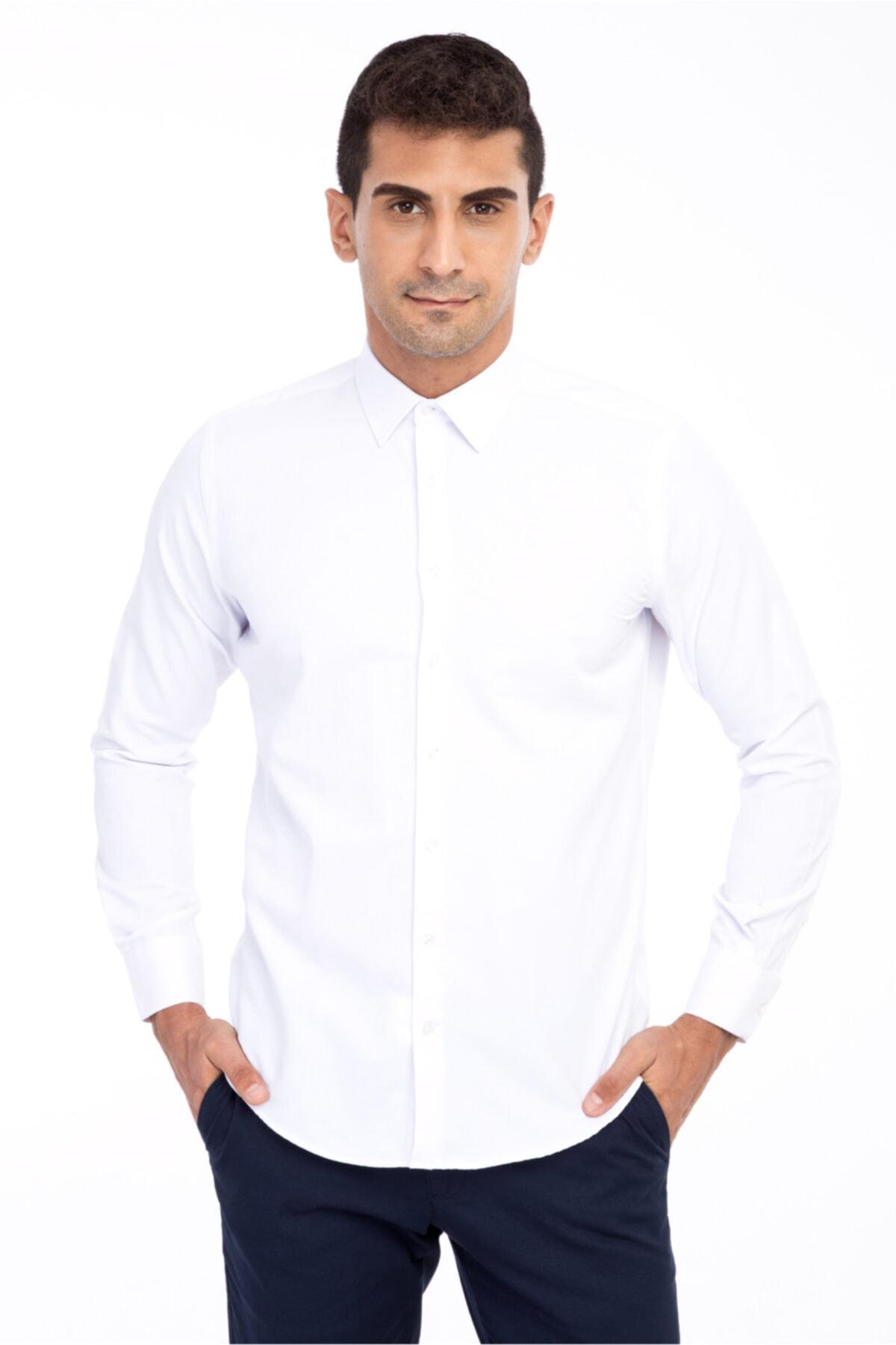 ذراع طويل سليم صالح منقوشة قميص