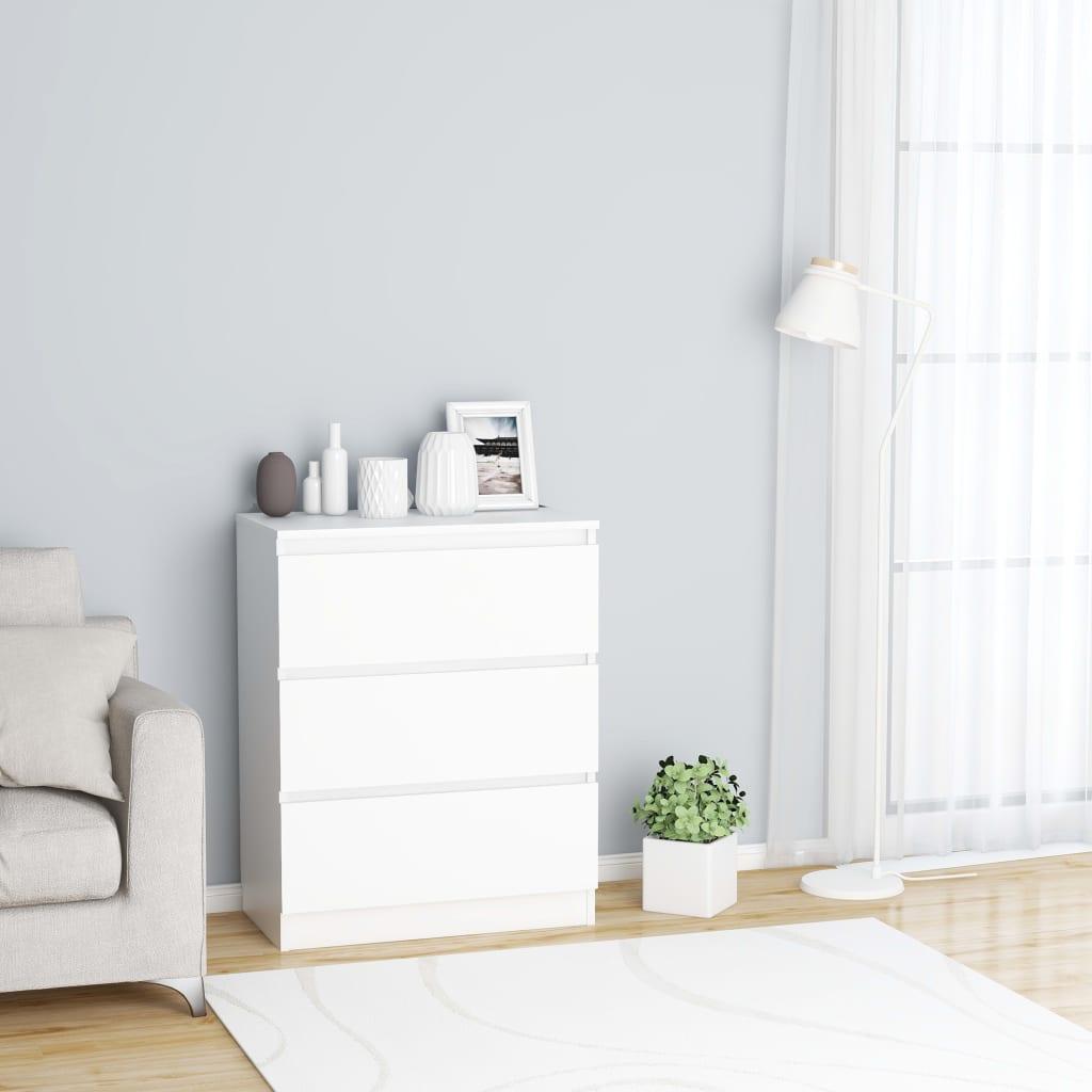خزانة جانبية وبوفيهات مع تخزين ديكور منزلي عصري أبيض 23.6 بوصة × 13.8 بوصة × 29.9 بوصة