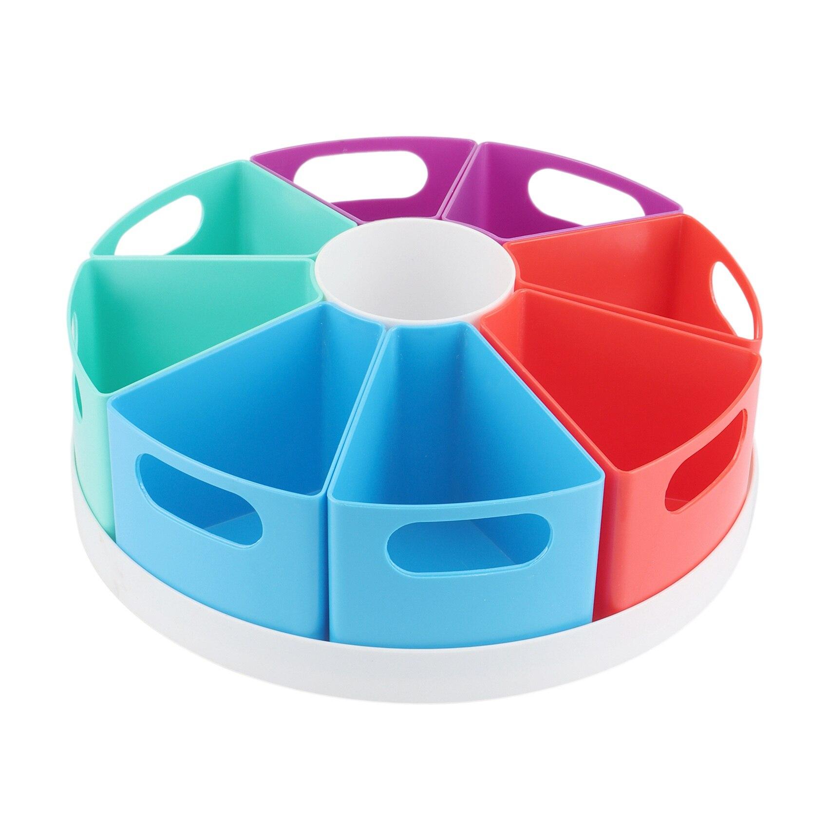 360-درجة تدوير سطح المكتب صندوق أدوات مكتب ، حامل قلم الإبداعية متعددة الوظائف ، انفصال صندوق تخزين مستحضرات التجميل