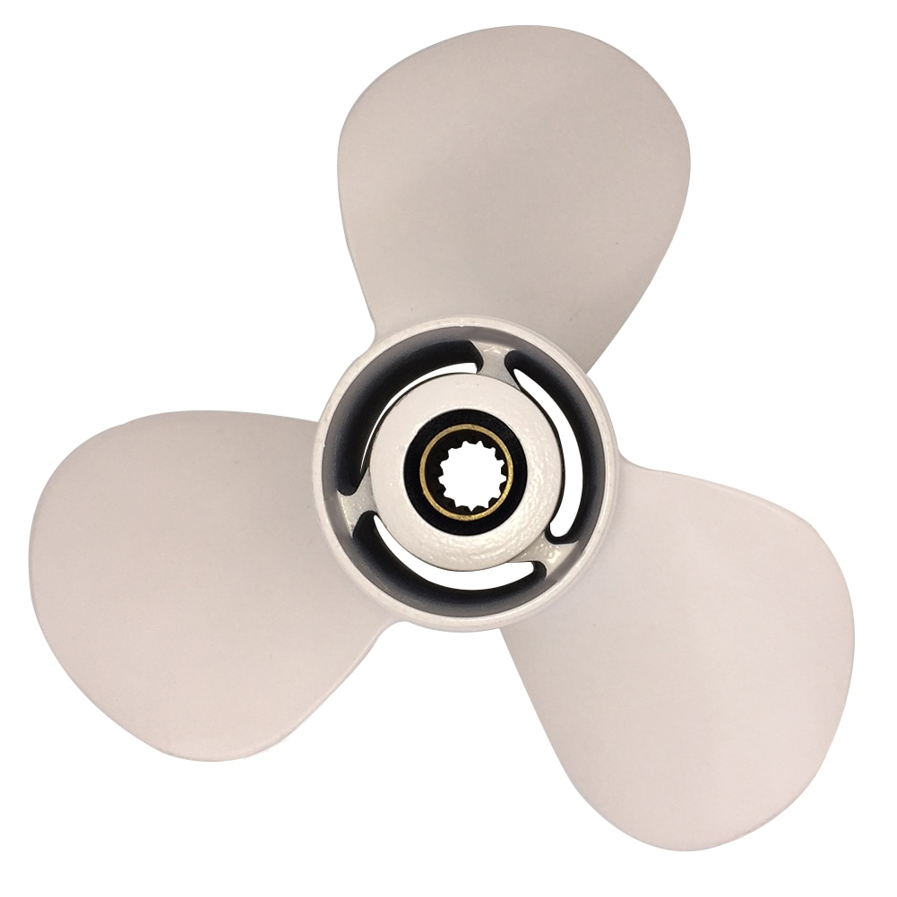 Boat Propeller 10x17 for Yamaha 40HP-55HP 3 Blades Aluminum Prop 13 Tooth RH 10x17 enlarge