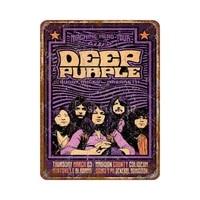 Affiche en metal violet fonce 8x12 pouces  affiche de style retro  decoration exterieure dhotel et de club