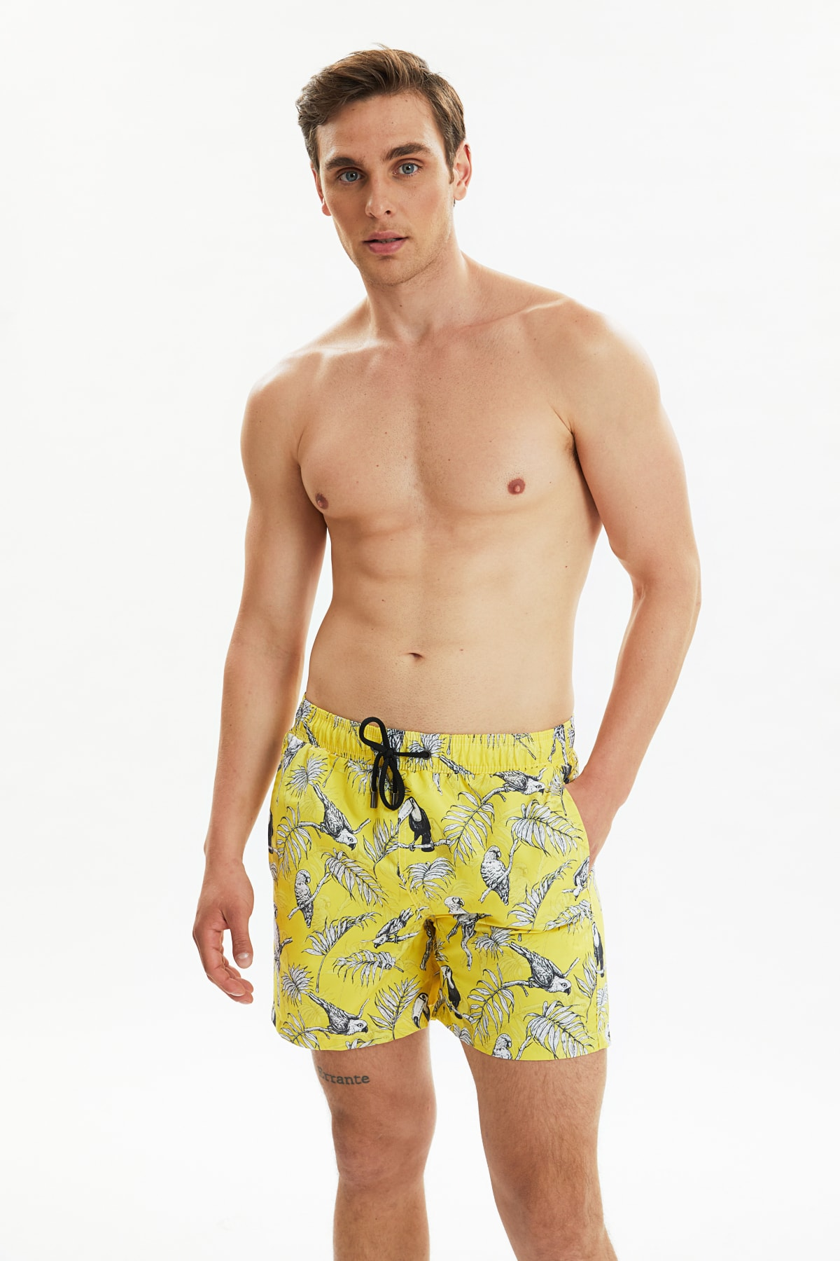 Trendyol Male Parrot Pattern New Sea Shorts TMNSS20DS0001