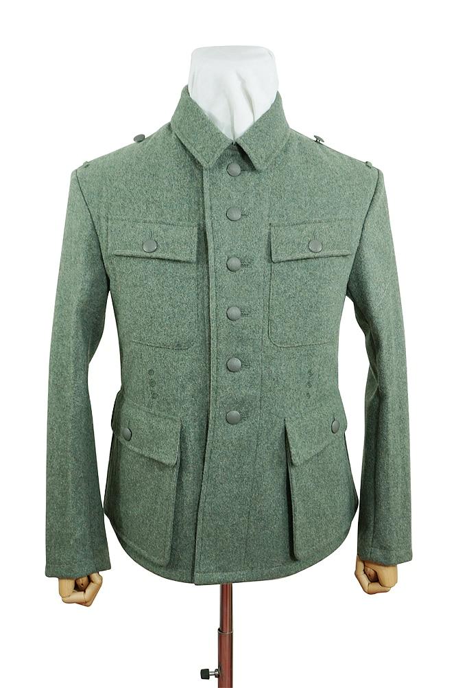 GUWA-095 WWII German M43 Heer EM fieldgrey wool tunic Feldbluse