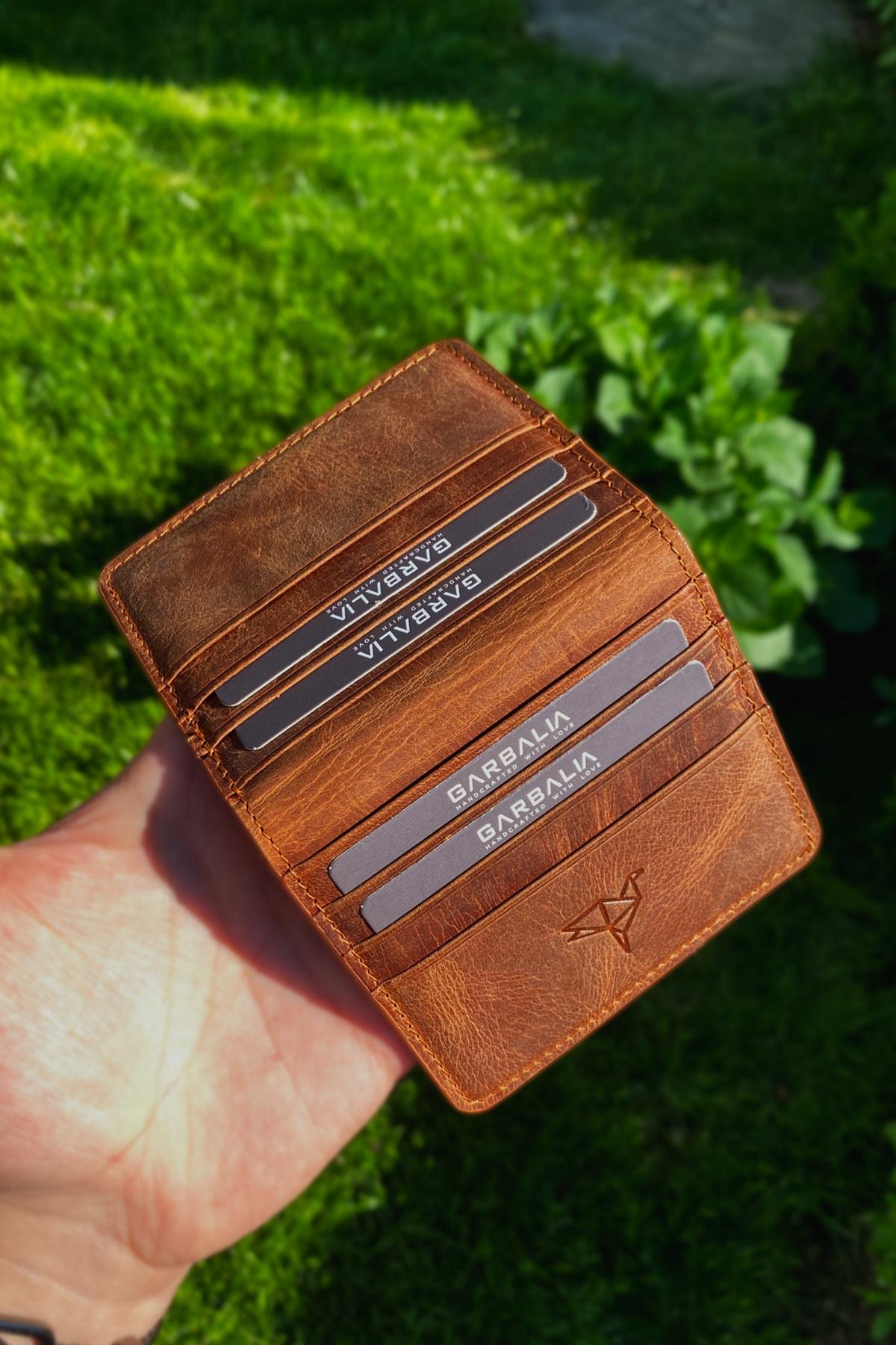 خمر جلد تان محفظة حمل بطاقات حامل بطاقة ملونة المحافظ الاتجاه المنتجات