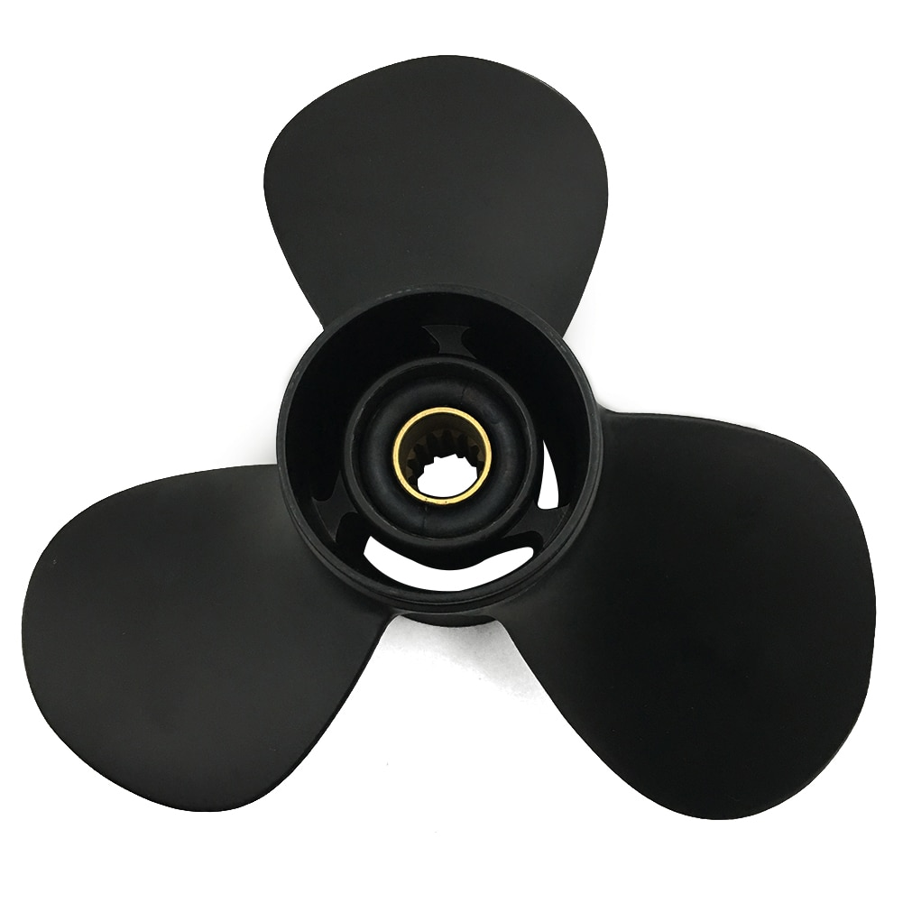 Boat Propeller 11x15 for Tohatsu 40HP-60HP 3 Blades Aluminum 13 Tooth RH OEM NO: 3T5B64532-1 11x15 enlarge