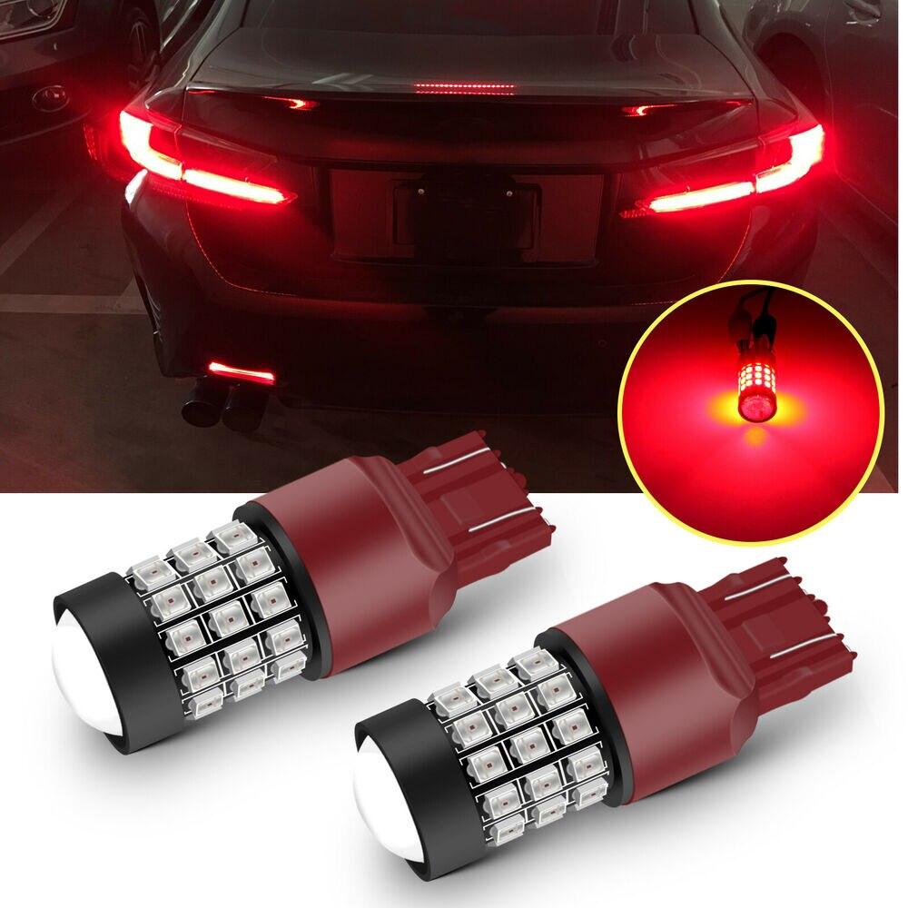 Чисто красный 7443 7444 7440 светодиодный стоп-сигнал, лампы, стробоскоп, мигающий для Honda Accord Civic 2003-2015