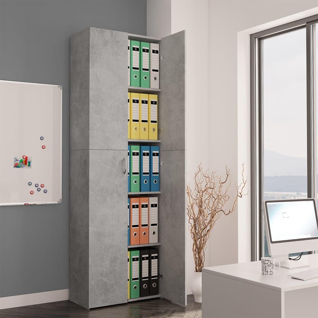 Высокие настенные офисные шкафы для хранения документов, для дома и офиса, бетонный серый, 23,6x12,6x74,8 дюйма, ДСП шкафы витрины стеклянные для офиса