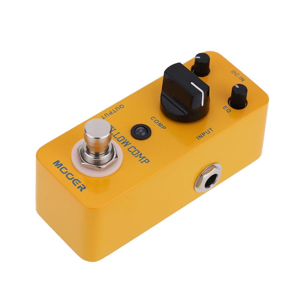 MOOERYellowCompOpticalCompressorGuitarEffectPedalCompactPedalMCS2 GuitarEffect Pedal  for Electric Guitar True Bypass enlarge