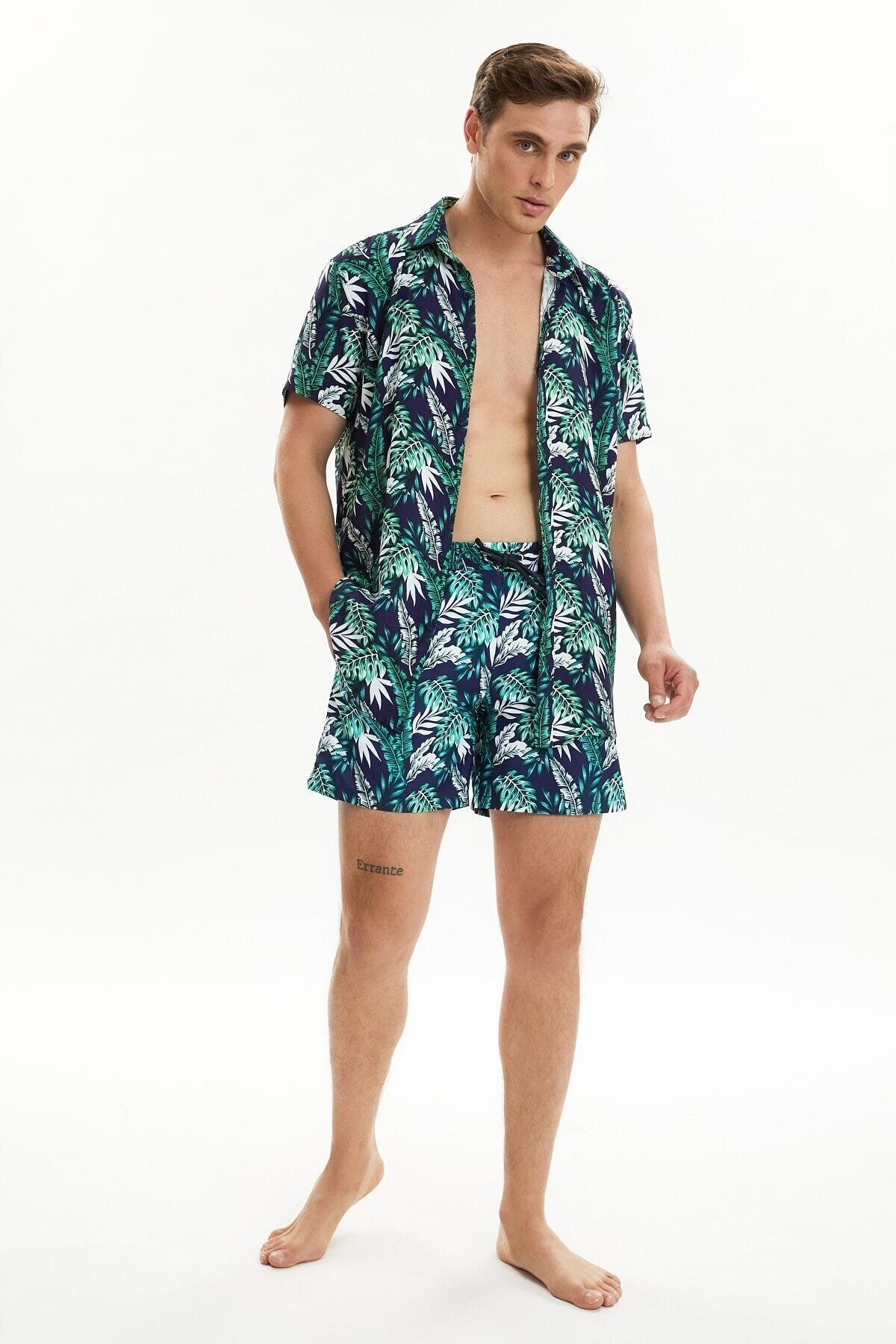 Trendyol Men Tropical Printed Sea Shorts TMNSS21DS0039
