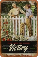 Affiche murale Vintage en metal  panneau en fer blanc retro  plante une victoire jardin  affiche artistique personnalisee  decor de Bar  Pub  diner  cafe  maison  Garage