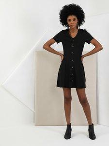 Colins Woman Regular Fit Black Dress ,CL1047988
