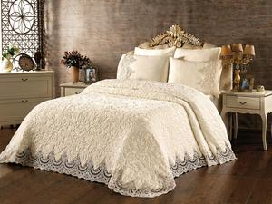 French Laced Elvin Blanket Set Cream