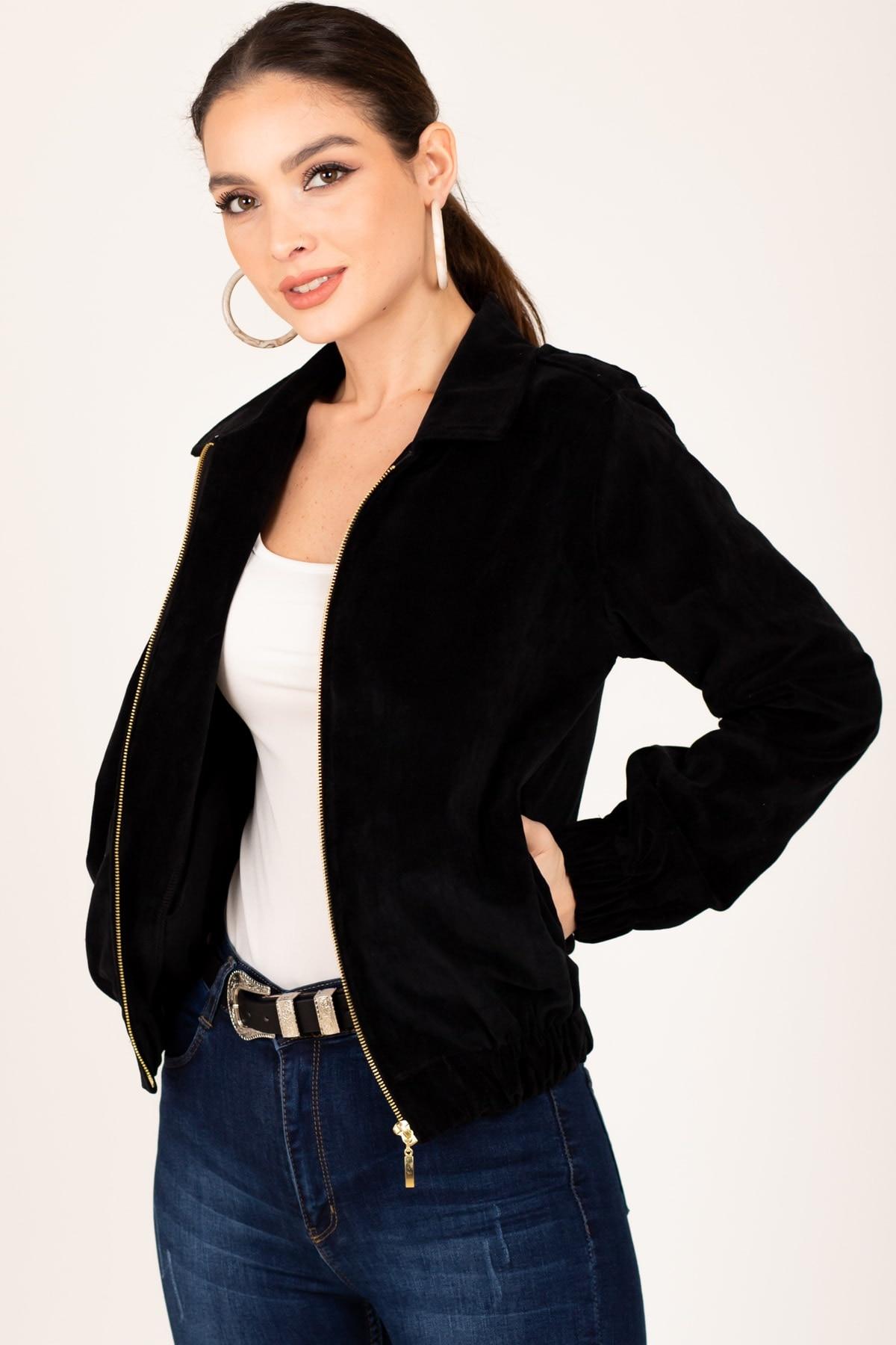 Куртка женская, женская Куртка, женская зимняя Куртка, женская черная облегающая Куртка на молнии спереди с ручками, женская Куртка