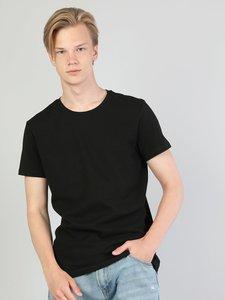 Colins Men Slim Fit Black Short SleeveTshirtMen's Tshirt Fashion Man Tshirts ,CL1045287