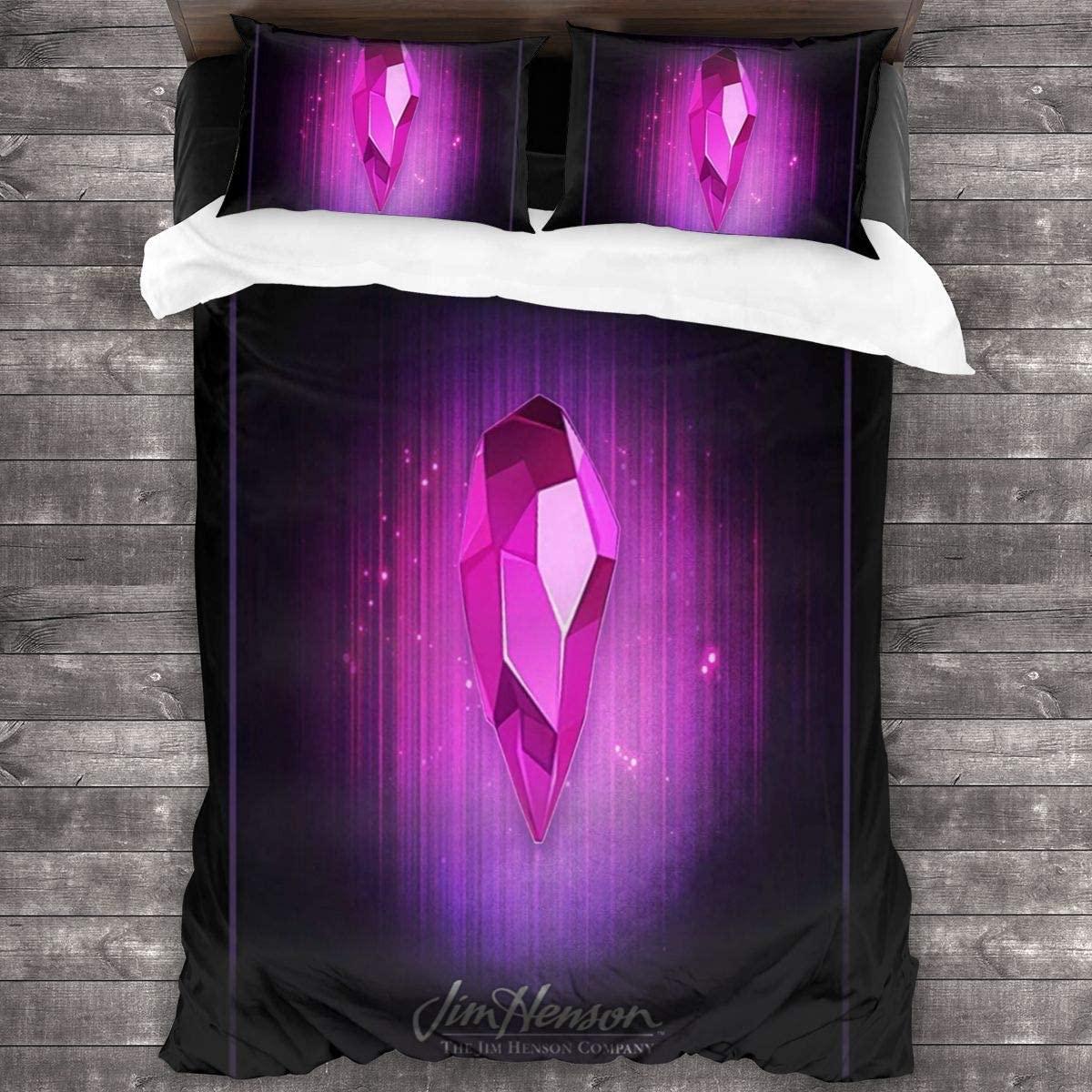 الظلام كريستال 3 قطعة طباعة الفراش حاف مجموعة غطاء لينة (لا المعزي) ، التوأم للأطفال في سن المراهقة الأطفال طقم سرير الكبار