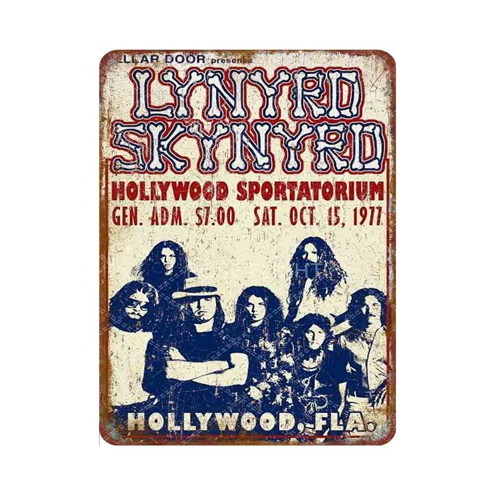 Lynyrd Skynyrd-cartel de lata de Metal para decoración del hogar, cartel de...