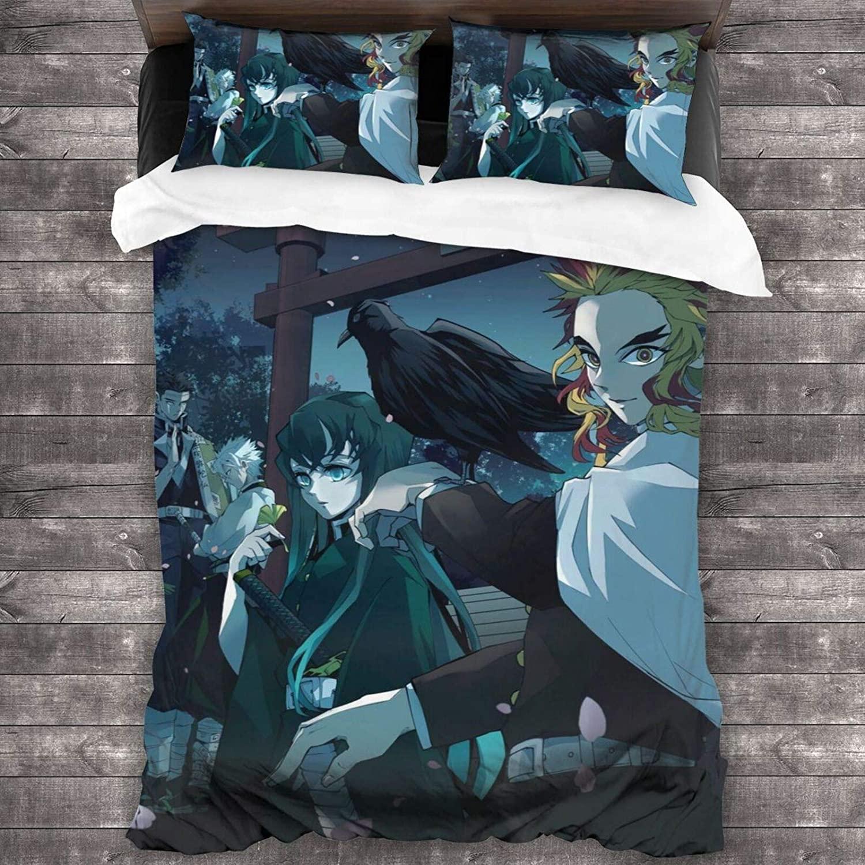 طقم سرير فائق النعومة مكون من 3 قطع عبارة عن طقم ملصقات شخصيات شيطان مع 1 غطاء لحاف 2 وسادة شمس للنساء أريكة غرف النوم