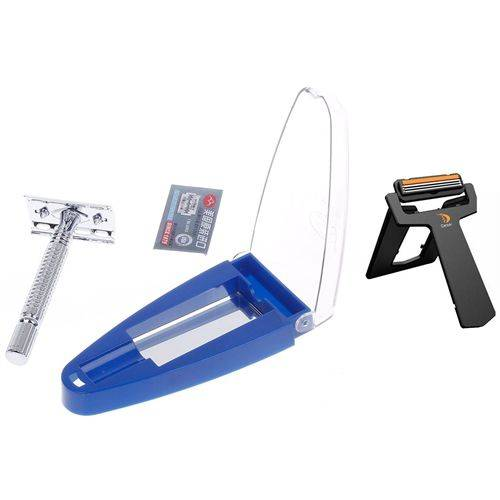 Transformacion RIMEI Stainless Steel non-slip handle Shaver Travel Knife mirror GIFT robust double-edged blade machine