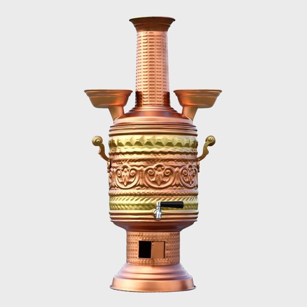 الشاي Urn غلاية الفولاذ المقاوم للصدأ Samovar 7 1لتر موقد الخشب لوازم التخييم في الهواء الطلق التخييم أواني المطبخ شواء نزهة الكهربائية