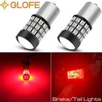 2x glofe 1156 strobe flash 3 led reverse light ba15s backup bulb parking lamp