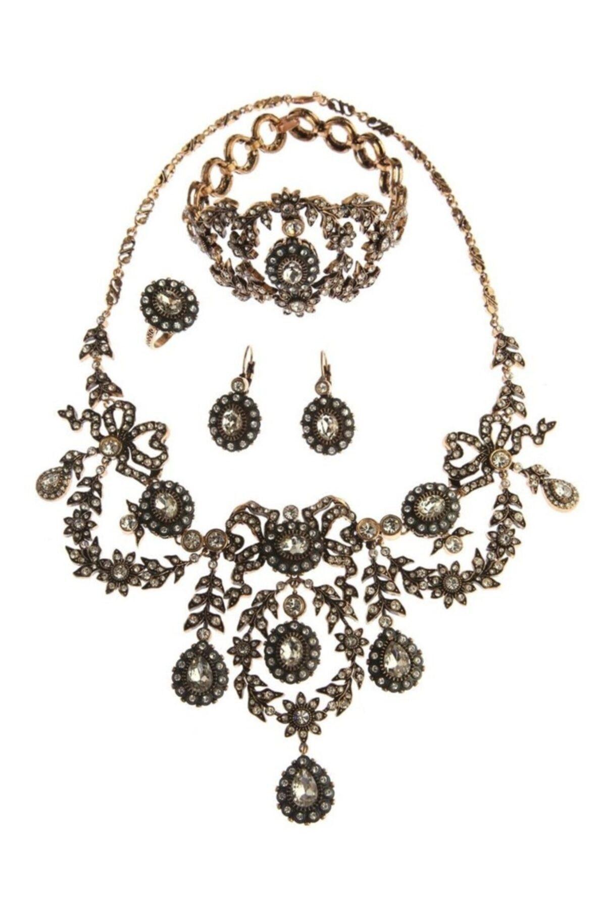 المرأة مجوهرات الأزياء النساء سلطان الماس شنت المختنق أقراط حلقة معصمه مجموعات
