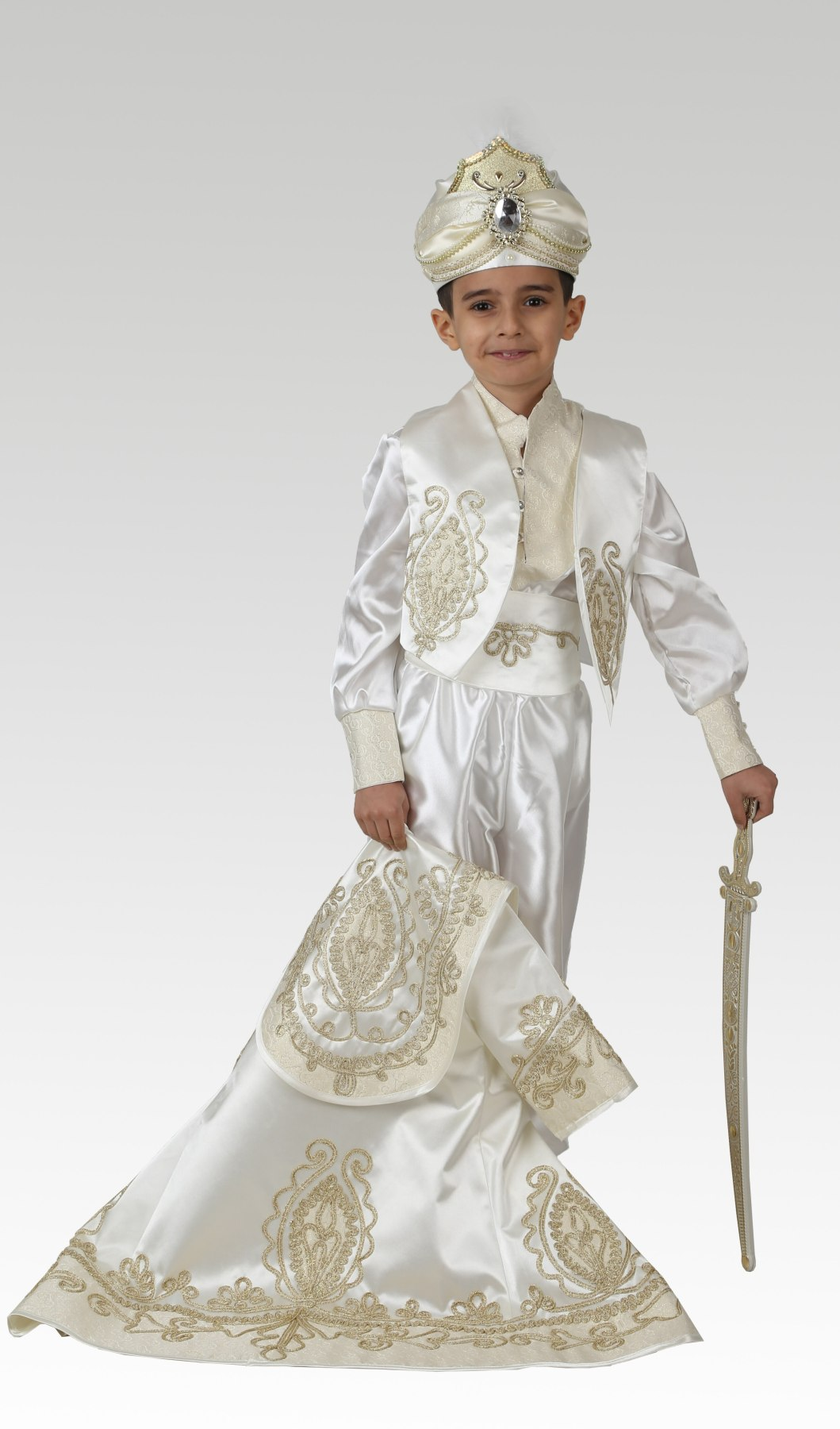 Prince Sultan Sunnet Clothes Kid Circumcision Dress 1-14 Age Birthday Party Event Costume Child Dress Muslim Islamic Turkish enlarge