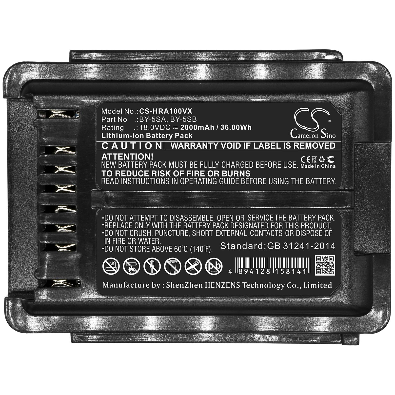 Generic بطارية 2000mA لشارب EC-AS500-Y ، EC-AS510 ، EC-AS700 ، EC-AS700-N ، EC-AS710 ، EC-FR5 ، EC-SX20 BY-5SA ، BY-5SB