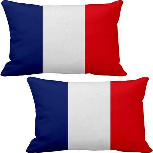 2 pieces France Digital Flag Vehicle Seat Neck Support Stylish Charisma Car Design Accessory Modified Rally Sports Car Brand