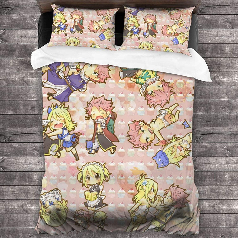 3 قطعة طقم سرير الجنية الذيل لوسي heart filia Natsu دراغنيل مجموعة مع 1 حاف الغطاء 2 كيس وسادة للجنسين أريكة غرفة الضيوف