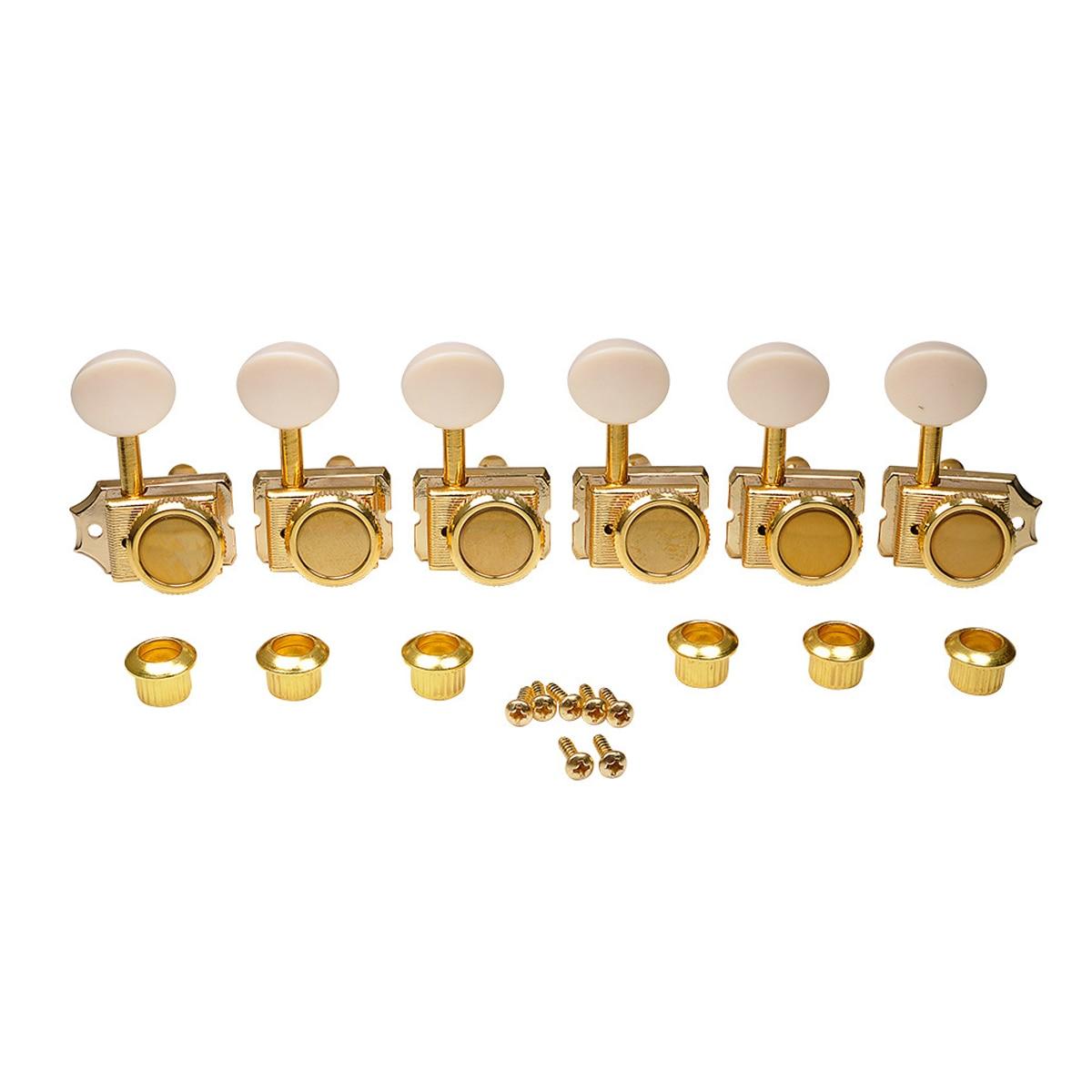 Musicales Lily Pro 6-clavijas de ajuste de bloqueo híbridas, cabezas de máquina...