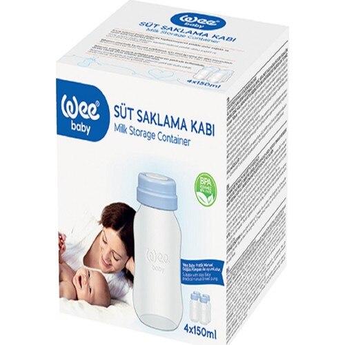 Wee Baby Breast Milk Storage Container 8 X150 Ml Baby Bottle Newborn Baby Nutrition enlarge