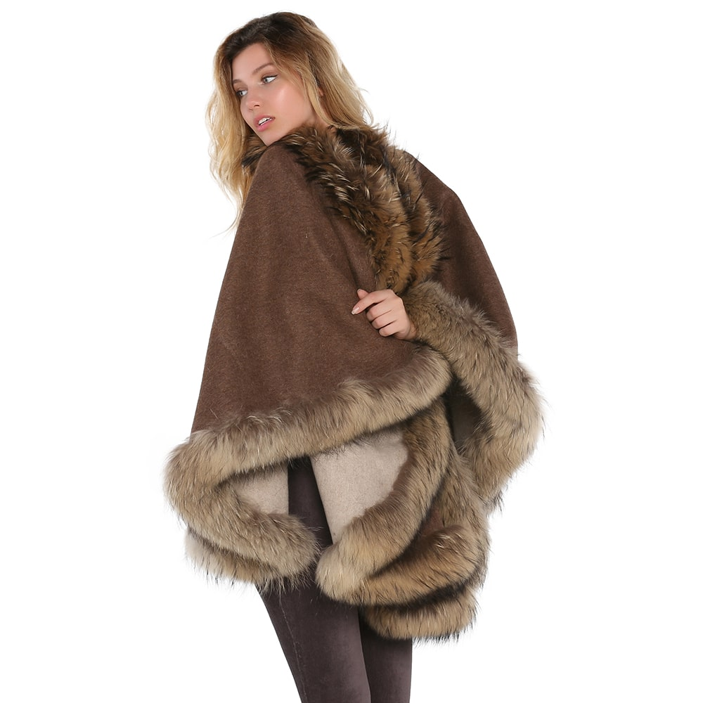 Двусторонняя накидка из натурального меха, пальто из натурального меха, одежда из натурального меха, накидка из натурального меха, жилет из ...